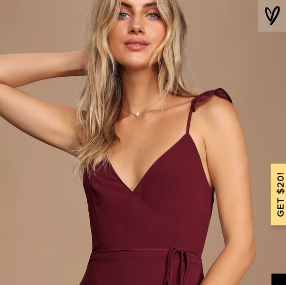 Lulu's Dresses & Skirts - Lulu's Burgundy Bridesmaid Dress